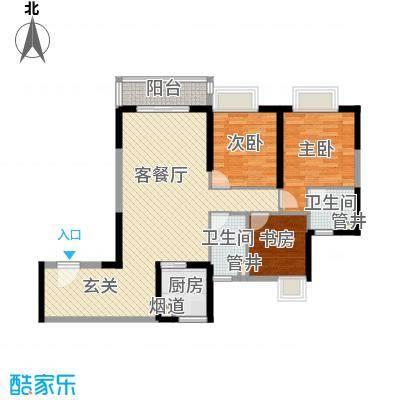 廉江锦绣华景105.00㎡户型3室3厅2卫1厨