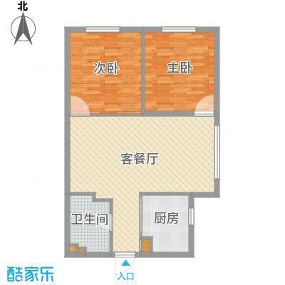 坦城88.00㎡坦城户型图1、2、3、4号楼D户型2室2厅1卫1厨户型2室2厅1卫1厨-副本
