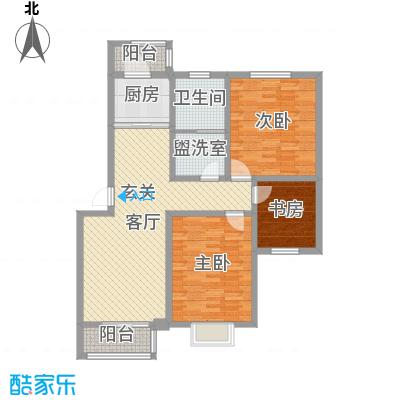 承德・秀水花园117.64㎡F23户型3室3厅1卫1厨
