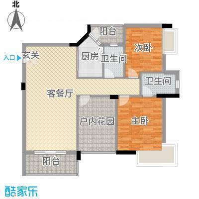 城市杰座105.00㎡02美奂家户型3室3厅2卫1厨