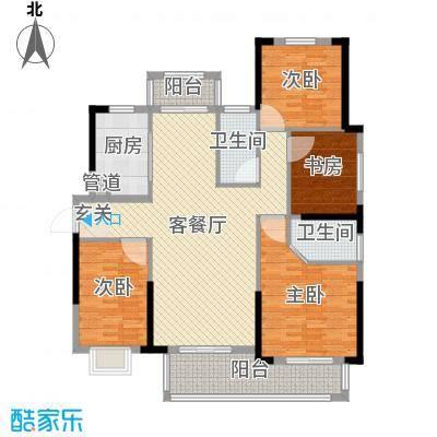 宇龙・湖畔花园141.38㎡二期C3户型4室4厅2卫1厨