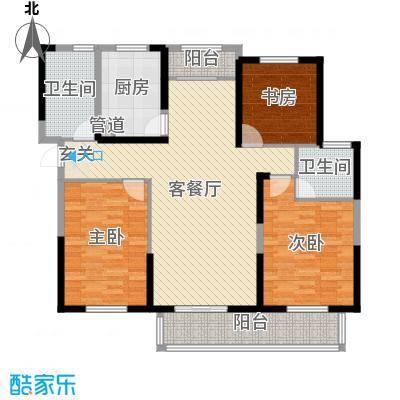宇龙・湖畔花园134.51㎡二期D3户型3室3厅2卫1厨