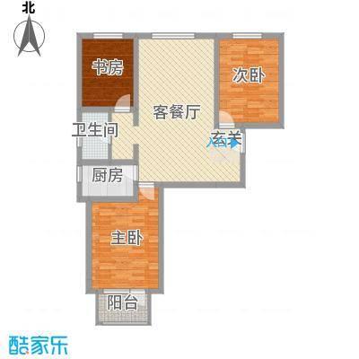 海唐广场115.00㎡6#2单元04户型3室3厅1卫1厨