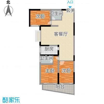 金满华府127.00㎡三期25#楼G2户型3室3厅2卫