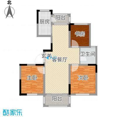 香格里拉花园123.71㎡户型3室3厅1卫