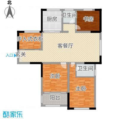 香格里拉花园135.00㎡四期20#楼东边套户型4室4厅2卫1厨