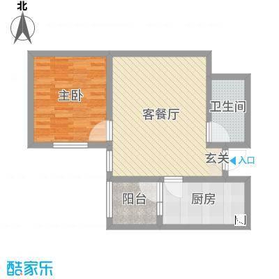 东龙府邸68.20㎡14#15#户型1室1厅1卫1厨