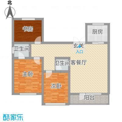 诺睿德国际商务广场127.30㎡A5#J户型3室3厅2卫1厨