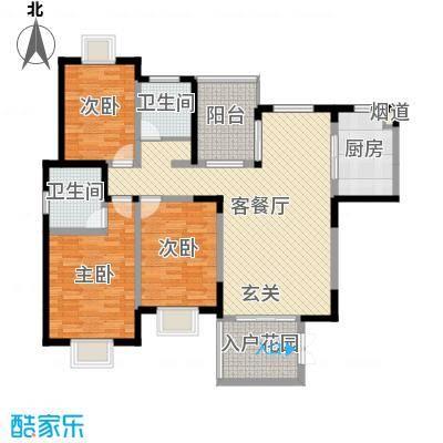腾冲世纪城134.41㎡Gc户型3室3厅2卫1厨