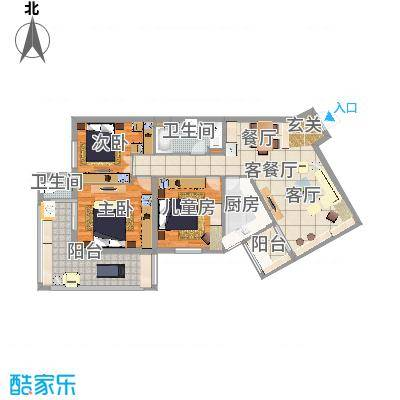 北京东城蒲黄榆1号-朱先生-【北欧风】