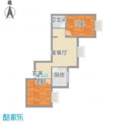 滨东花园二期92.33㎡户型2室2厅1卫1厨