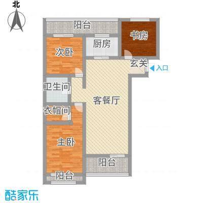 美地庄园94.00㎡馨城小高户型3室3厅1卫1厨