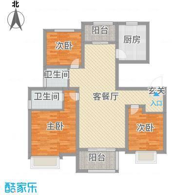 海亮・院里115.00㎡一期2-6#8#11#楼洋房标准层05户型3室3厅2卫1厨