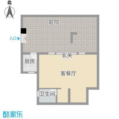 中铁国际旅游度假区65.00㎡一期复合式合院G户型1室1厅1卫