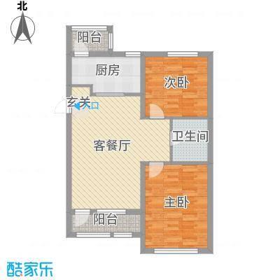 天洁・华尔街广场89.00㎡C3户型2室2厅1卫1厨