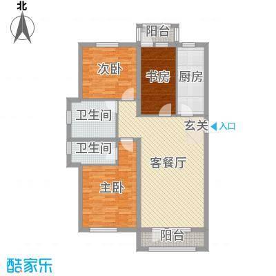 天洁・华尔街广场106.00㎡D1户型3室3厅2卫1厨