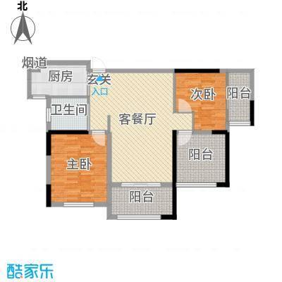 嘉禾尚郡100.00㎡9#、11#楼标准层Q户型3室3厅1卫1厨