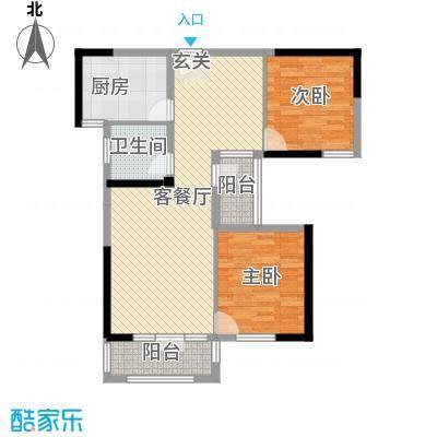 航宇・长江国际89.56㎡单页D户型3室3厅1卫1厨