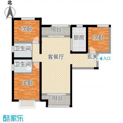 麟凤尊汇126.72㎡户型3室3厅2卫1厨
