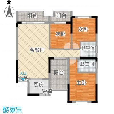 城南时代122.18㎡7户型3室3厅2卫1厨