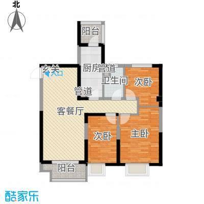 沈阳恒大御景湾117.00㎡5#、7#1层C户型3室3厅1卫1厨