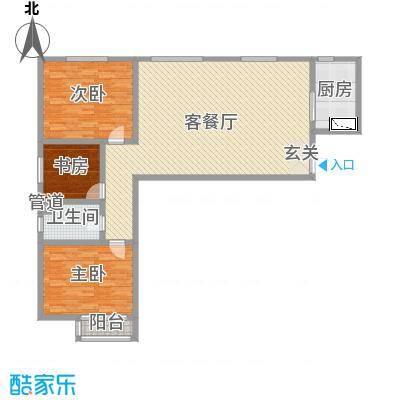 和平大院二期144.97㎡3#G户型3室3厅1卫1厨