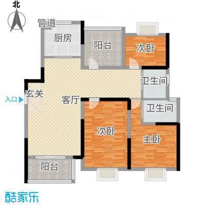 中奥珑郡139.00㎡二期4-5#楼标准层J户型4室4厅2卫1厨