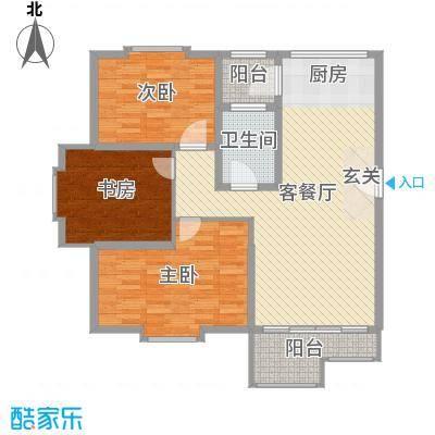 欧美世纪花园112.00㎡32#标准层A户型3室3厅1卫1厨