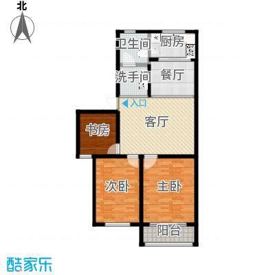 盛祥佳苑户型3室1厅1卫1厨