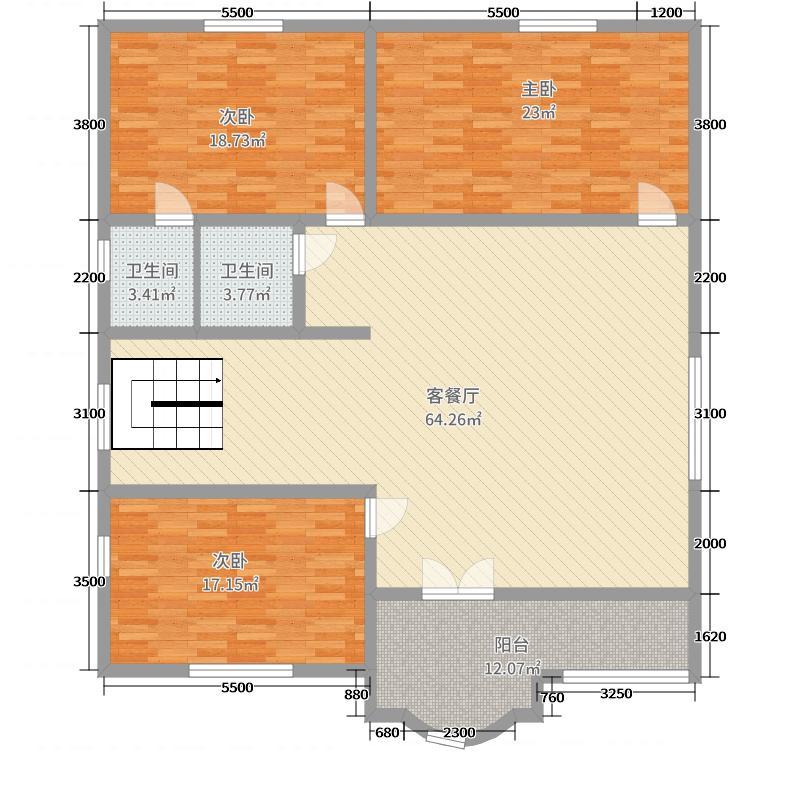 自建房长方形户型设计图展示