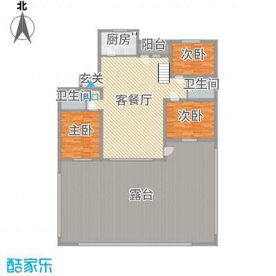 米拉小筑147.30㎡户型3室3厅2卫1厨