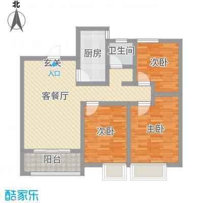 长九中心公园9号97.37㎡21#标准层a-g户型3室3厅1卫1厨