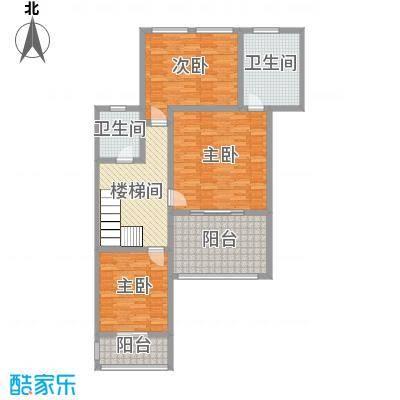 乐仙小镇239.00㎡B1二层平面图户型4室4厅3卫1厨