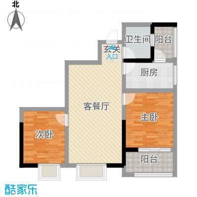 大兴新悦城88.09㎡2号楼D户型2室2厅1卫1厨