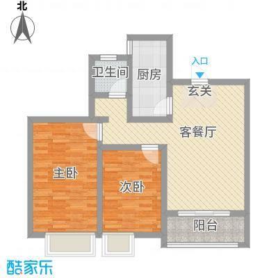 长九中心公园9号91.08㎡22#23#标准层D户型2室2厅1卫1厨
