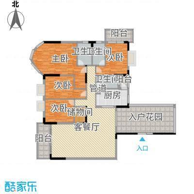 嘉和豪庭214.50㎡D栋户型2室2厅3卫1厨