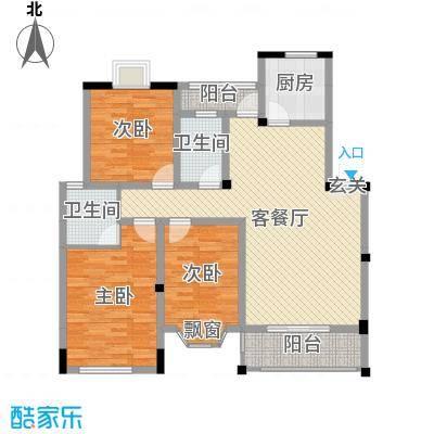 天工颐园三期119.00㎡ABC-03户型3室3厅2卫1厨