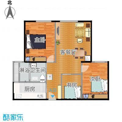 两室两厅一卫第一设计