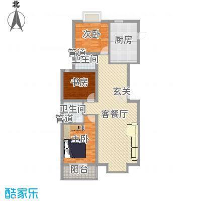 东上・水漾佳苑10号楼A户型 3室2厅2卫1厨 123.53㎡-副本-副本