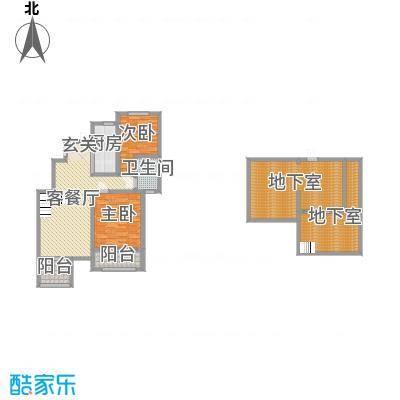 星河蓝湾97.00㎡F1户型2室2厅2卫1厨