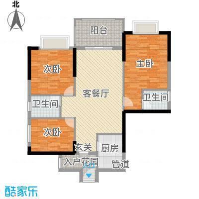 尚城雅苑113.00㎡A3/A4/A7/A8座05户型3室3厅2卫