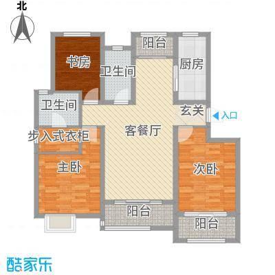 银丰唐郡・牡丹园140.47㎡20#22#楼C户型3室3厅2卫1厨
