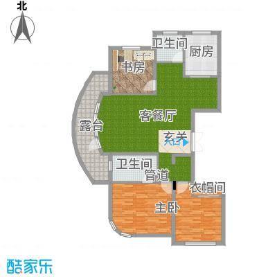 君豪・绿园144.27㎡C-4户型3室2厅2卫1厨-副本