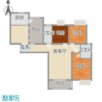 海悦国际136.21㎡1、2#B户型3室3厅2卫1厨