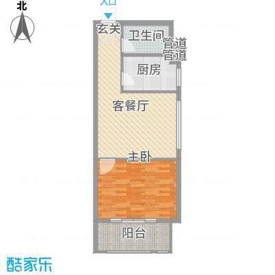 海唐罗马花园62.00㎡9#户型1室1厅1厨
