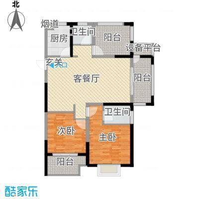 嘉禾尚郡118.63㎡10#标准层户型3室3厅2卫1厨