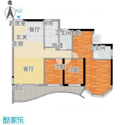 嘉仕花园尚海轩151.00㎡户面积15100m户型-副本