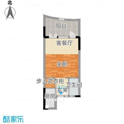 御泉庄65.38㎡1栋C户型1室1厅1卫1厨