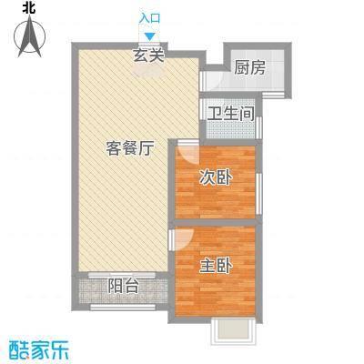 天正银河湾87.28㎡31号楼1单元03、2单元03户型2室2厅1卫1厨
