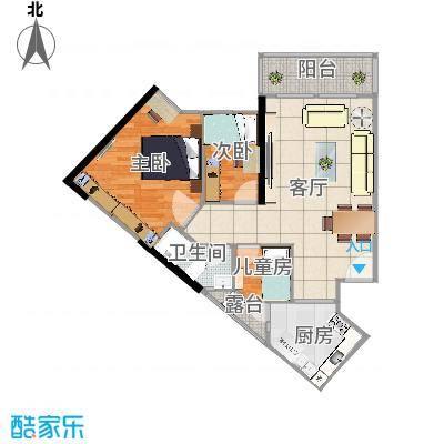 东浚荔景苑96方三室